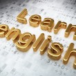 Education concept: Golden Learn English on digital background — Stock Photo