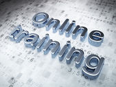 Education concept: Silver Online Training on digital background — Stock Photo