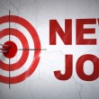 Finance concept: target and New Job on wall background — Stock Photo #43348111