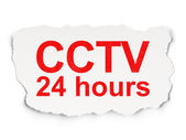 Security concept: CCTV 24 hours on Paper background — Stock Photo