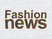 News concept: Fashion News on fabric texture background — Stock Photo