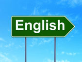 Education concept: English on road sign background — Stock Photo