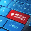 Privacy concept: Shield and Access Denied on computer keyboard background — Stock Photo #43350889