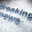 News concept: Silver Breaking News on digital background — Stock Photo #43351989