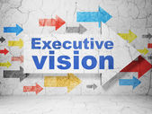 Business concept: arrow with Executive Vision on grunge wall background — Foto de Stock