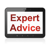 Law concept: Expert Advice on tablet pc computer — Stok fotoğraf