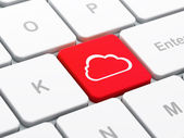 Cloud computing concept: Cloud on computer keyboard background — Stok fotoğraf