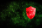 Security concept: Shield on digital background — Stok fotoğraf