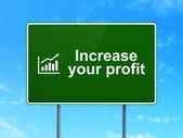 Business concept: Increase Your profit and Growth Graph on road sign background — Foto de Stock