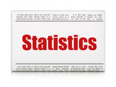 Business concept: newspaper headline Statistics — Stockfoto