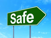 Privacy concept: Safe on road sign background — Foto Stock