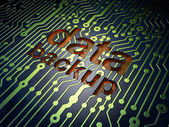 Data concept: Data Backup on circuit board background — 图库照片