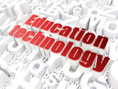 Education concept: Education Technology on alphabet background — Foto de Stock