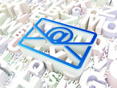 Finance concept: Email on alphabet background — Stock Photo