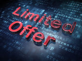 Business concept: Red Limited Offer on digital background — Stock Photo