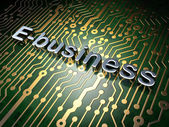 Finance concept: E-business on circuit board background — ストック写真