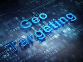 Business concept: Blue Geo Targeting on digital background — Stock Photo