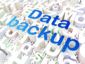 Information concept: Data Backup on alphabet background — Stock Photo