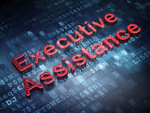 Finance concept: Red Executive Assistance on digital background — Stock Photo