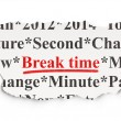Time concept: Break Time on Paper background — Stock Photo