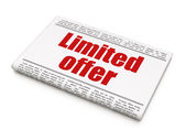 Finance concept: newspaper headline Limited Offer — Stock Photo
