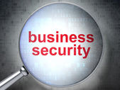 Privacy concept: Business Security with optical glass — Stok fotoğraf