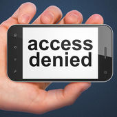 Security concept: Access Denied on smartphone — Stock Photo