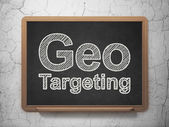 Finance concept: Geo Targeting on chalkboard background — Stok fotoğraf