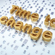 Timeline concept: Golden Time to Change on digital background — Stockfoto