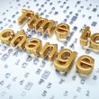 Timeline concept: Golden Time to Change on digital background — Stok fotoğraf
