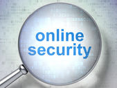 Safety concept: Online Security with optical glass — Stock Photo