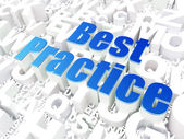 Education concept: Best Practice on alphabet background — Stock Photo