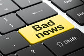 News concept: Bad News on computer keyboard background — Stock Photo