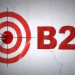 Business concept: target and B2c on wall background — Stock Photo