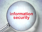 Security concept: Information Security with optical glass — Stock Photo