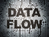 Data concept: circuit board with Data Flow — Stock Photo