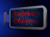 Finance concept: Express Delivery on billboard background — Stockfoto