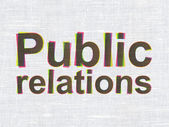Marketing concept: Public Relations on fabric texture background — Stock Photo
