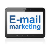 Advertising concept: E-mail Marketing on tablet pc computer — Stock Photo
