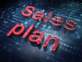Advertising concept: Red Sales Plan on digital background — Stock Photo