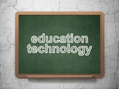 Education concept: Education Technology on chalkboard background — Stock Photo