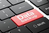 Data concept: Data Backup on computer keyboard background — Stock Photo