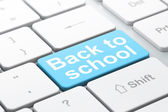 Education concept: Back to School on computer keyboard background — Stock Photo