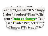 Data concept: Data Exchange on Paper background — Stock Photo