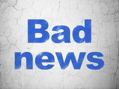 News concept: Bad News on wall background — Stock Photo
