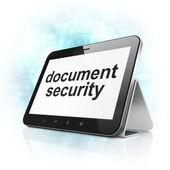 Protection concept: Document Security on tablet pc computer — Stock Photo