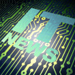 Circuit board with IT News — Stock Photo #44019631