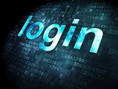 Safety concept: Login on digital background — Zdjęcie stockowe