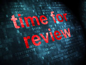 Time for Review on digital background — Stock Photo