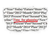 Timeline concept: Time for Planning on Paper background — Foto Stock